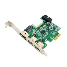 CY External 2 Port USB 3.0 & Power Over Esata & 19pin USB Header Combo Pci-e PCI Express Card
