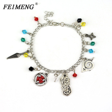Buy Naruto Charm Bracelets Konoha Ninja Sharingan Sasuke Kakashi Itachi Madara Enamel Pendant Bracelet Fashion Jewelry Accessories for $1.28 in AliExpress store