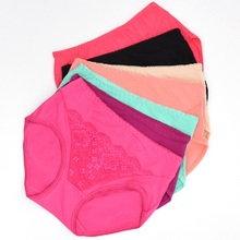 6pcs/Lot,1pcs gift,Total 7pcs Receive Cotton Lace Women's Woman Underwear Women Panties Lace Knickers Briefs Lingerie 8815(China)