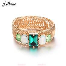 JShine Trendy Luxury Crystals Big Bracelets & Bangles for Women Elastic Adjustable Mixed Color Bangle Accessories Brand Jewelry