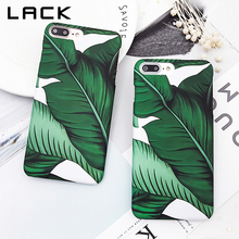 LACK Retro Banana Leaf Phone Case For iphone 7 Case Summer Green Plants Back Cover Hard PC Cases For iphone 7 Plus Coque Capa(China)