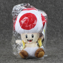 Cute Mushroom Toad Soft Stuffed Plush Doll Super Mario Bros Plush Toys with Sucker Baby Toy For Kids 1pcs 7\'\' 17cm(China)
