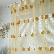 Free shipping fashion window screening tulle curtain bed room living room sheer voile panel drapes customized