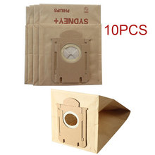 10 pieces/lot Vacuum Cleaner Paper Bags Dust Filter Bag Replacement For Philips S-bag FC8202 FC8204 FC8206 FC8613 FC8220 New(China)
