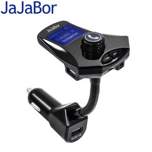 JaJaBor FM Transmitter Bluetooth Hands Free Car Kit 3.5MM AUX Car Mp3 Player 3.1A USB Car Charger Support Flash Drive TF Card(China)