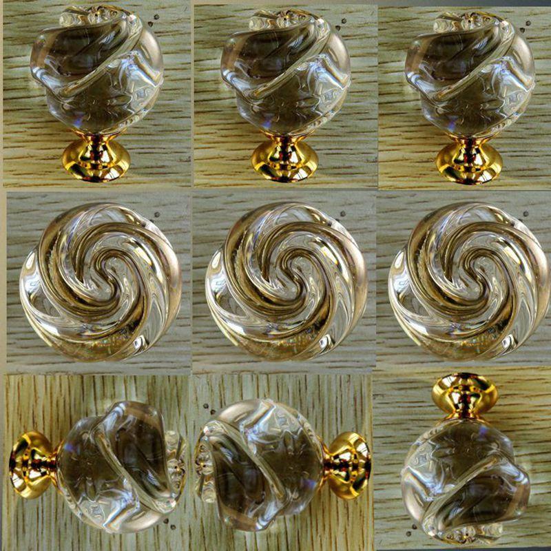 10pcs/lot K9 furniture handle drawer crystal handle  Wardrobe handle drawer knob bathroom glass door handle rose flower shape<br><br>Aliexpress