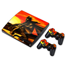 STICKER COVER for PS3 SLIM + 2 CONTROLLER SKINS for PS3 skin stickers