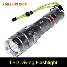 Ultra brightness CREE Torch XM-L2 U3 2000Lumen Led Diving Flashlight IP68 15W 100M Waterproof Design Torch Flash light For diver()