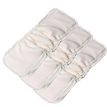 3 PCS/ Pack 5 Layers Bamboo Cotton cloth diapers Inserts Nappy changing mat Baby Diapers Reusable diaper changing pad(China)