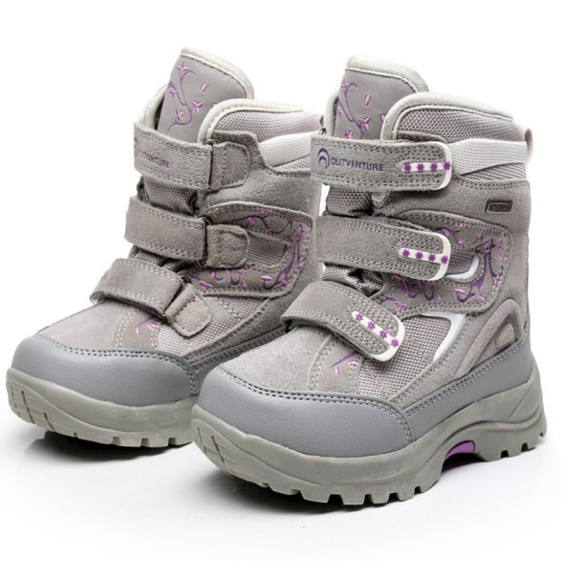 HOT Children Shoes Outdoor Girls &amp; Boys Winter Snow Boots Genuine Leather Waterproof Fashion Princess Boots<br>