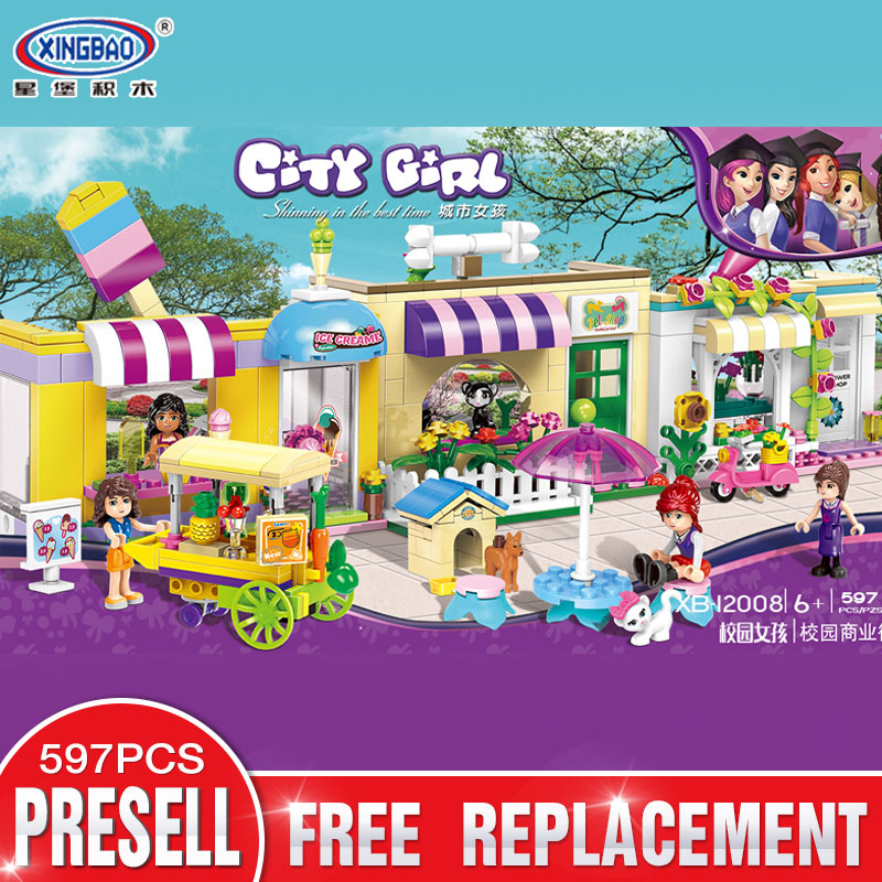 XINGBAO 12009 New Toys 590Pcs City Girls Series The Campus Medical Office Set Building Blocks Bricks Funny Girl Kids Gifts Toys<br>
