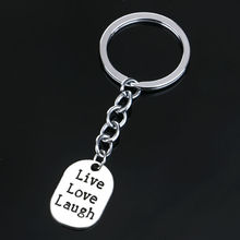Live Love Laugh Keyring Gifts For Friend Women Men Wedding Keychain Key Ring Attractive Chain Jewelry Party Dress Souvenirs