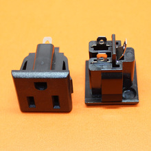 2pcs - 100pcss American PLUG AC POWER SOCKET 15A 125V Multinational Certification Environmental copper Power outlet