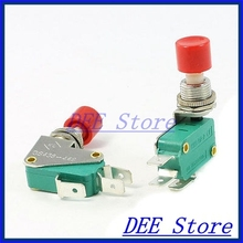 micro limit switch SPDT 1NO 1NC 3-Terminal Red Button Actuator Mini Limit Microswitch
