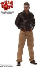 "Wild Toys WT09 A2 Leather Jacket Set 2 Color Scheme for 12""  Action figures in stock"
