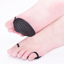 1 Pair Invisible Non Slip Forefoot Pads Lace High Heel Half Cushions Insole Inserts Potect Foot Care Massage Forefoot Pad