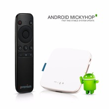 iPremium Migo Android MickyHop OS H.265 Quad Core 64bit 2.0Hz WiFi BlueTooth IPTV Stalker YouPorn YouTube Smart TV Box PK MI Box(China)