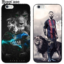 Football Star Lionel Messi Pattern Phone Cases for Iphone 6 6S 7 8 Plus 5S SE X Soft Silicone Phone Back Cover Capinha Coque(China)