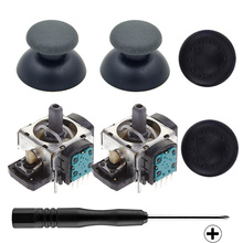 2x4pins New Original 3D Analog Joystick Rocker+2pcs Thumbstick Silicone Caps+Screwdriver For PS3 DUALSHOCK Vibration Controller
