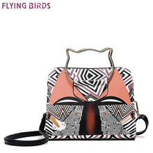 FLYING BIRDS Flap Bag Printing Women Messenger Bags Leather Pouch Design Shoulder Bags Chain Bag Ladies Crossbody High Quality(China)