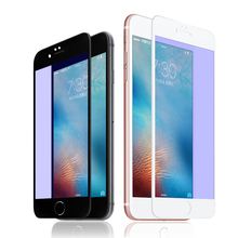 Buy 3D 9H Anti-blue Full Tempered Glass iPhone 7 / 7 Plus Screen Protector Film Glass Apple iPhone 5 5S 5C SE 6 6s 7 Plus for $2.95 in AliExpress store