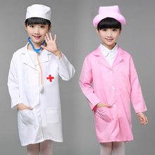 Child Halloween Cosplay Costume Kids Doctor Costume Nurse Uniform Girls Game Clothing Wear Clothing for Party with Hat +Mask 89(China)