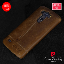 Hot Sale Retro Brown Genuine Leather Hard Back Case Cover For LG G4 G5 V10 V20 Cell Phone cases Free Shipping