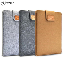 "11"" 13"" 15"" Universal Felt Fabric Laptop Bag for Macbook for Lenovo for Acer Portable Netbook Liner Sleeve Tablet Pouch Case(China)"