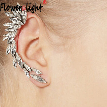 Fashion Celebrity Style Crystal Ear Cuff Clip On Earings Ear Cartilage One Ear Earrings With Clips For Women Jewelry Party Gift