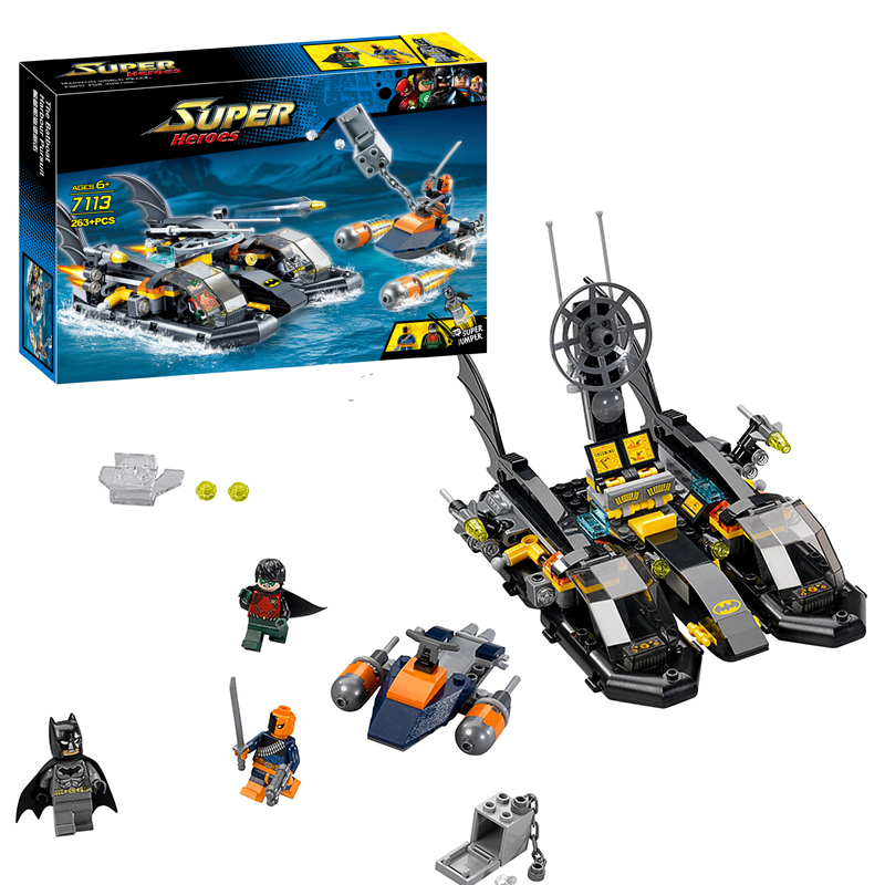 Decool 7113 DC Super Heroes Batman Batboat Harbor Pursuit building bricks blocks Toy boy Game Gift Compatible Lepin Bela 76000<br><br>Aliexpress