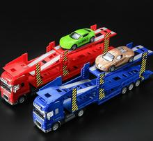 High imitation metal trailer toy,1: 50 alloy double deck model,metal castings,engineering toy vehicle,free shipping
