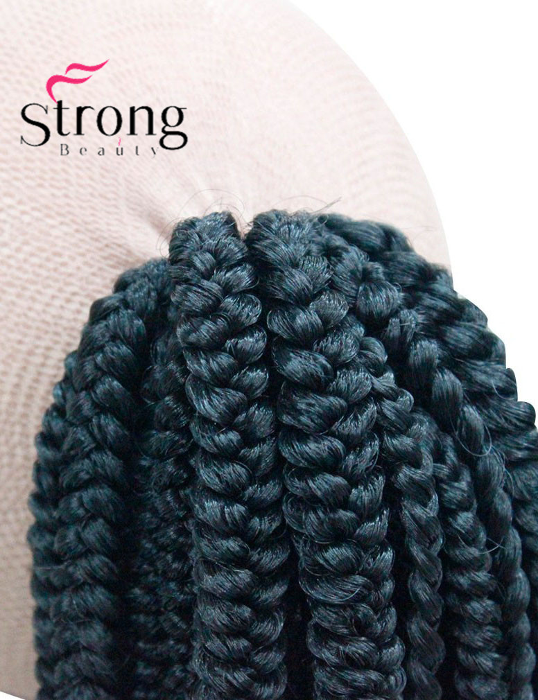 Long Afro Kinky Curly Crochet Twists Braids Ponytail Hair Extension Synthetic HairPiece with Jaw Claw Clip (Black) (4)