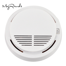 High Sensitive Photoelectric Home Security System Cordless Wireless Smoke Detector Fire Alarm Equipment(China)