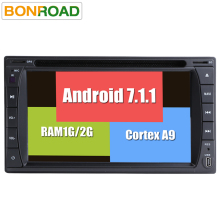 Bonroad Android 7.1.1 2Din Universal Car DVD Player Radio GPS Navigation In Dash Car PC Stereo Video With Bluetooth Wifi 3G