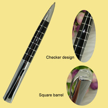 Silver and black Square Ballpoint Pen Cool checker Design Metal Ball Pens for Business Gifts Fashion Retail Shop Stationery1620B