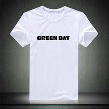 American Green Day Letter Print Men T-shirt Fashion Casual Boys Street Style Combed Cotton Mateial Black White Grey Spiderman