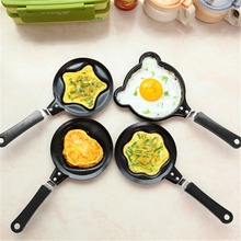 Practical Mini Egg Frying Pancakes Kitchen Pan with Stick Housewares Pot DIY 5 Types Shapes Healthy Nonstick Cooking Tools