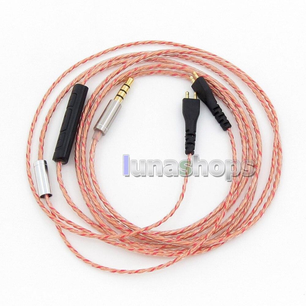 With Mic Remote Long Short Earphone Cable For Sennheiser HD25 HD 25-1 HD25-1 II HD25-13 HD25-C TBJS LN005733