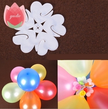 5pcs 6.5cm 6 Balloons flower shape clip Foil latex balloon Flowers air balls inflatable toys wedding party birthday decorantion(China)
