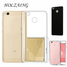"HOLAZING Clear Transparent TPU Gel Rubber Soft Silicone Case For Xiaomi Redmi 4X 5.0"" Cover Ultra Thin Protective Skin Cover"