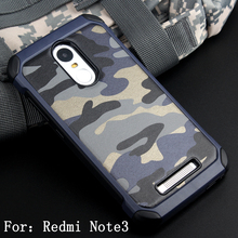 For Xiaomi Redmi Note 3 Camouflage Pattern PC+TPU Anti-knock Protective Back Cover Case for Note 3 Pro Prime Dual Layer Shell