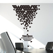 [SHIJUEHEZI] Customized Geometry Trigon Pattern Wall Sticker for Home Decor Living Room Company Office Decoration Accessories(China)