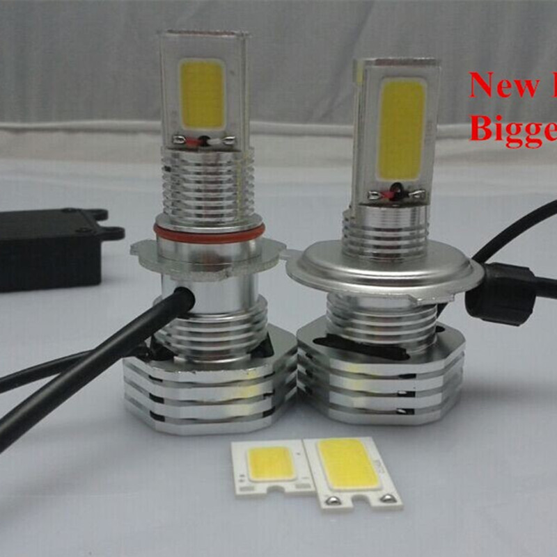 On Sale!! HID kit 55Watt Conversion 35w/55w H4 High/Low Beam Light -Xenon COB LED Array 3600lm High Low HeadLight Light HB2 Bulb<br><br>Aliexpress