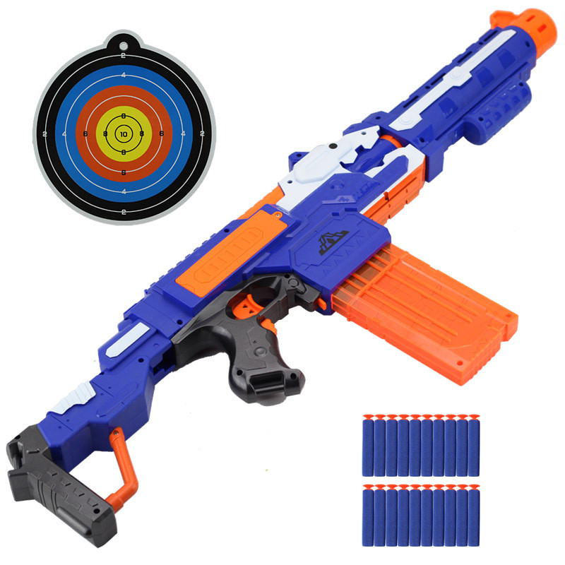 Battery Electric Submachine Toy Gun Carton Dart and Kids Soft Bullet and Detachable Uzi Rifle For Sniper nerf Air Gun boys<br><br>Aliexpress