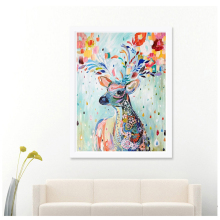 12*14 Inch Handmade DIY Diamond Painting Embroidery Cross Stitch Kits Crystal Painting Room Home Decoration Colour Deer Pattern(China)