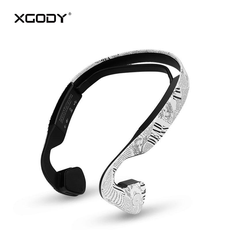 XGODY ZB19 Bone Conduction Wireless Headphone Bluetooth 4.0 10 Meter 230mAh Hearing Aid Earphone with Microphone for Phone Sport<br>
