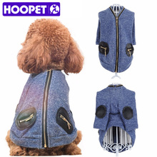 HOOPET Pet Clothes Chihuahua Clothing Dog Teddy Bear Small Warm Zipper Knitted Cardigan