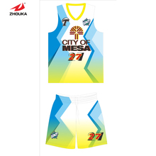 Digital printing processing professional design Men Basketball shirt and shorts