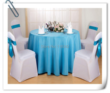 "Big Discount & Factory Price!!!  132"" Round Polyester 10pcs Blue Table Cloth For Wedding &Party &Hotel &Resturant  FREE SHIPPING"
