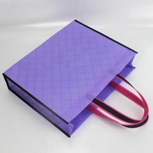 25pcs in/-40x32+10cm-6color Embossed non woven shopping tote bags/plastic gift bags with handles/wedding gift colorful bags